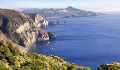 Looking down the west coast of Lipari to Vulcano on the idyllic Aeolian archipelago © Matt Munro / Lonely Planet