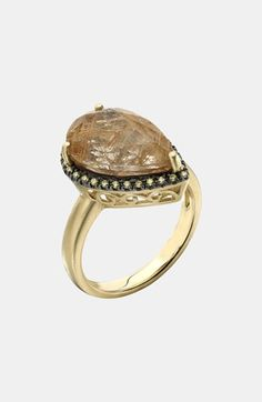Whitney Stern Quartz & Diamond Cocktail Ring available at #Nordstrom