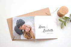 Trouwkaart tweeluik met foto www.fientje-en-co.nl