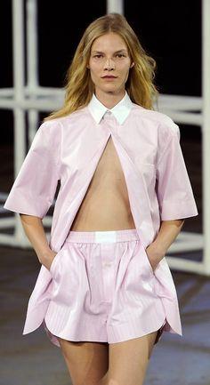 Pyjama dressing from @AlexanderWangNY today #NYFW