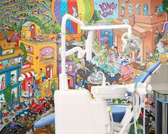 Add a search and find mural to your pediatric dental office!