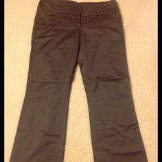 Bebe satin bootleg pants Bebe satin gray bootleg pants size 10 inseam with hem 30 the hem is 2 1/2 inches bebe Pants Boot Cut & Flare