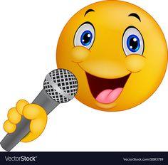 Emoticon smiley singing vector image on VectorStock Cute Cartoon Faces, Funny Emoji Faces, Funny Emoticons, Smileys, Emoji Love, Cute Emoji, Stickers Emojis, Middle Finger Emoji, Happy Birthday To You
