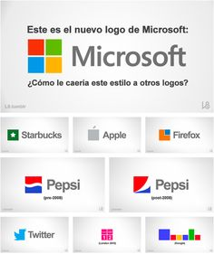Brands with new Microsoft logo design.