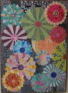 My Flower Plates by Candy Grisham.  2016 workshop, Arrowrock Quilt Camp (Missouri).