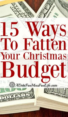 Money and Christmas? Will you have enough to cover the holidays? These 15 strategies can put some serious extra money and fatten up your wallet! Visit our 100 Days of Debt Free DIY Holiday Ideas for more recipes, decorating ideas, crafts, homemade gift id