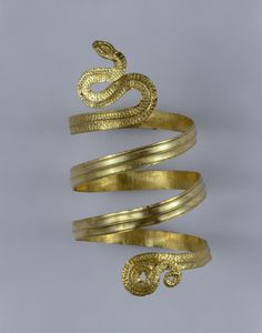 Greece - Spiral Bracelet Shaped like a Snake Ancient Greece century bc The State Hermitage Museum: Digital Collection -- Powered by IBM Ancient Jewelry, Antique Jewelry, Corinthian Helmet, Archaeological Discoveries, Archaeological Site, Classical Greece, Year Of The Snake, Hermitage Museum, Creta