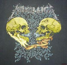 Metallica Vintage T Shirt Concert 1991 Sad But True Pushead Black Tour XL… Metallica Tattoo, Metallica Art, Metallica Shirts, Metallica Albums, Metallica Black, Hard Rock, Heavy Metal Rock, Heavy Metal Bands, Rock Posters