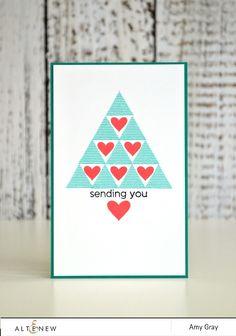 Geometric Christmas Tree Using Sohcahtoa Stamp Set - Altenew Blog