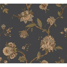 MAN33064 - Chesapeake by Brewster MAN33064 Gentlemen's Quarters Monaco Blue Jacobean Trail Wallpaper in Blue - CanadaDecor Textured Wallpaper, Wallpaper Roll, Pattern Wallpaper, Modern Gentleman, Modern Man, Gentlemans Quarters, Stair Well, Brewster Wallpaper, Wallpaper Warehouse