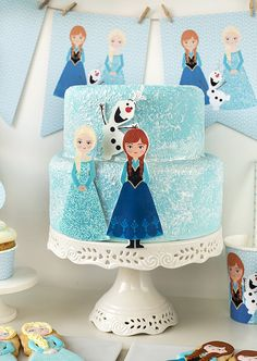 Postreadicción galletas decoradas, cupcakes y pops: Fiesta de Frozen, imprimible gratuito de Frozen