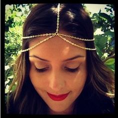 2015 New Fashion plated Gold Head Chain Pieces Women Boho Headpiece Headband Metal Chain Hair Head Wrap Jewelry-in Hair Jewelry from Jewelry on Aliexpress.com | Alibaba Group
