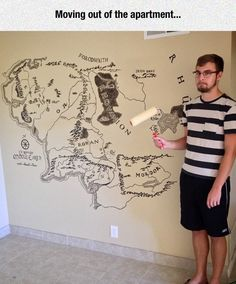 Painting Things On Walls Is A Very Bad Hobbit - No matter what, I'll do this in my house!!