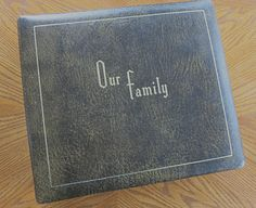 Family Album Genealogical Album Family Tree by mybonvivant on Etsy
