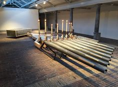 ronald van der meijs explores earthly sounds with burning candles in haarlem