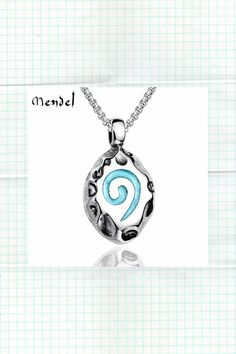 Stainless Steel Native Indian Tribal Flint Spiral Pendant Necklace