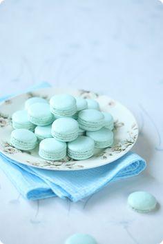 Mint makarons / Macarons de hortelã