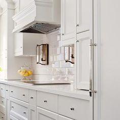 Elizabeth Metcalfe - kitchens - white kitchens, shaker cabinets, white shaker cabinets, white kitchen ideas, paneled hood, paneled kitchen h...