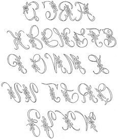 WB monograms alphabet by love to sew, via Flickr
