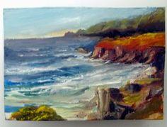 Gail Grant impressionism oil painting California coast original COA signed OOAK #Impressionism
