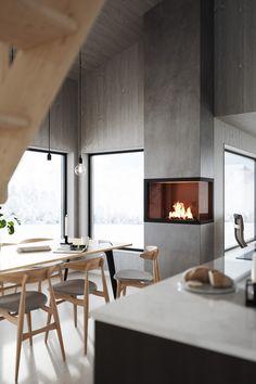 Log Home Interiors, Office Interiors, Nautical Interior, Chalet Design, Haus Am See, Interior Architecture, Interior Design, Cabin Homes, Sweet Home