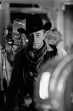 "Film homage, 1960's, Robert Mitchum, ""Young Billy Young"" set, Old Tucson, AZ, 1968"