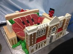 Texas Tech Stadium Wedding Cake - Jones AT&T Stadium #footballwedding