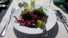 Small salad with Italian dressing @ Restaurant Frascati