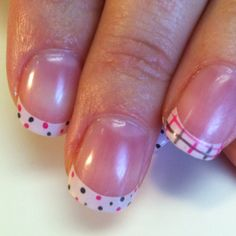Polk a dot and plaid Shellac. Hang10