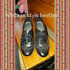 Vintage Style Booties Adorable booties, looks great with skirts or jeans or dress pants. Shoes Ankle Boots & Booties