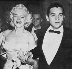 Marilyn with Milton Greene at the premiere of East of Eden, March 1955.