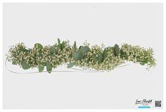 Hochzeit - Haarkranz mit Eukalyptus und Schleierkraut Herbs, Plants, Hair Garland, Wedding Bride, Herb, Plant, Planets, Medicinal Plants