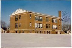 The old Lincoln School on Howard Street in Massena, NY.  This is the building I worked out of from December 1990 until the new Community Center on Beach Street was erected.  I started out on the third floor in a small office which used to be a closet.  We moved down to the second floor when the St. Lawrence Co. Mental Health unit moved to their own building.  Sadly this building in now just a memory as it was torn down.