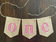 One Banner//Red Gingham One Banner//Highchair by asherblaine