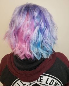 Dreaming on top of a cloud of cotton candy hair! ☁️🍬 Dreaming on top of a cloud of cot Vivid Hair Color, Pretty Hair Color, Hair Dye Colors, Pastel Lavender Hair, Pastel Pink Hair, Pelo Multicolor, Cotton Candy Hair, Aesthetic Hair, Pretty Hairstyles