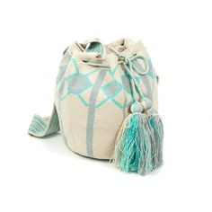 Bolso Wayuu Tapestry Bag, Tapestry Crochet, Bucket Bag, Knitting, Bags, Shoes, Fashion, Pocket Wallet, Rugs