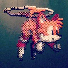 Tails Sonic hama perler beads by caveofpixels