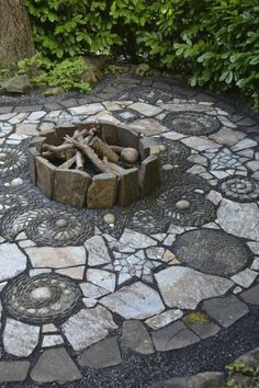 Marcia Westcott Peck is part of Garden paths - Stone Garden Paths, Garden Paving, Mosaic Garden, Garden Stones, Patio Stone, Mosaic Walkway, Garden Floor, Pebble Mosaic, Stone Pathways