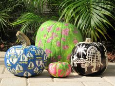Lilly Pulitzer pumpkins...Ha!