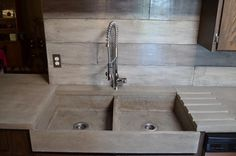 Concrete Kitchen Sink Design Ideas, Pictures, Remodel, and Decor