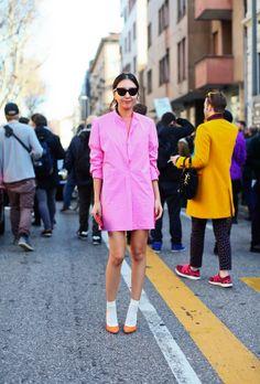 Neon Pink and Papaya