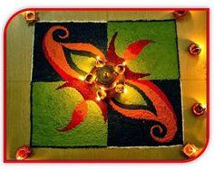 Happy Diwali 2014 Greetings Wishes-Shubh Deepavali Pictures: Top 10 Best Happy Diwali Rangoli Designs n Patterns - Freehand Deepavali Samples