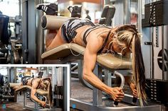 Exercise 5 Lying Leg Curl Warm-up sets: sets of 10 reps Working sets: 3 sets of reps Women Leg Workout Gym, Leg Day Workouts, Fun Workouts, Massive Legs, Leg Circuit, Lying Leg Curls, Fitness Tips, Fitness Motivation, Leg Routine