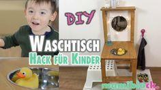Waschtisch für Kinder aus einem Stuhl   DIY   mamiblock - YouTube Ikea Hack Kids, Ikea Hacks, Toddler Activities, Diy For Kids, Montessori, Upcycle, Kids Room, Recycling, Frame