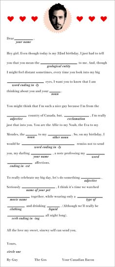Our B-Day Present To Ry-Gos: Ryan Gosling X R29 Madlibs!