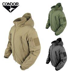 Blouson softshell Condor capuche ( 4 couleurs ) NOIR Softshell, Raincoat, Sweatshirts, Sweaters, Jackets, Fashion, Tactical Gear, Black Colors, Military Personnel