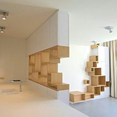 Design library and wood wall