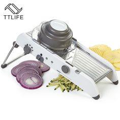 TTLIFE Multifunctional Adjustable Mandoline Vegetable Slicers Manual Vegetable Cutter Potato Carrot Grater Fruit Vegetable Tools pie