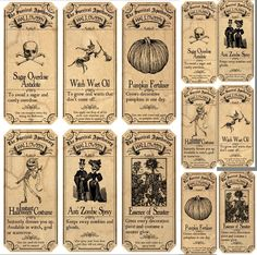 Survivng Halloween Apothecary Labels Stickers 2 Sizes Scrapbooking Crafts | eBay
