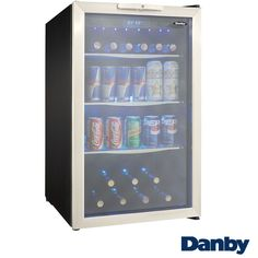 Make sure your alcohol is kept safely away from your kids with the Danby Locking Beverage Center. With enough space for 7 bottles of wine and 88 beverage cans, this unit features an integrated door lo